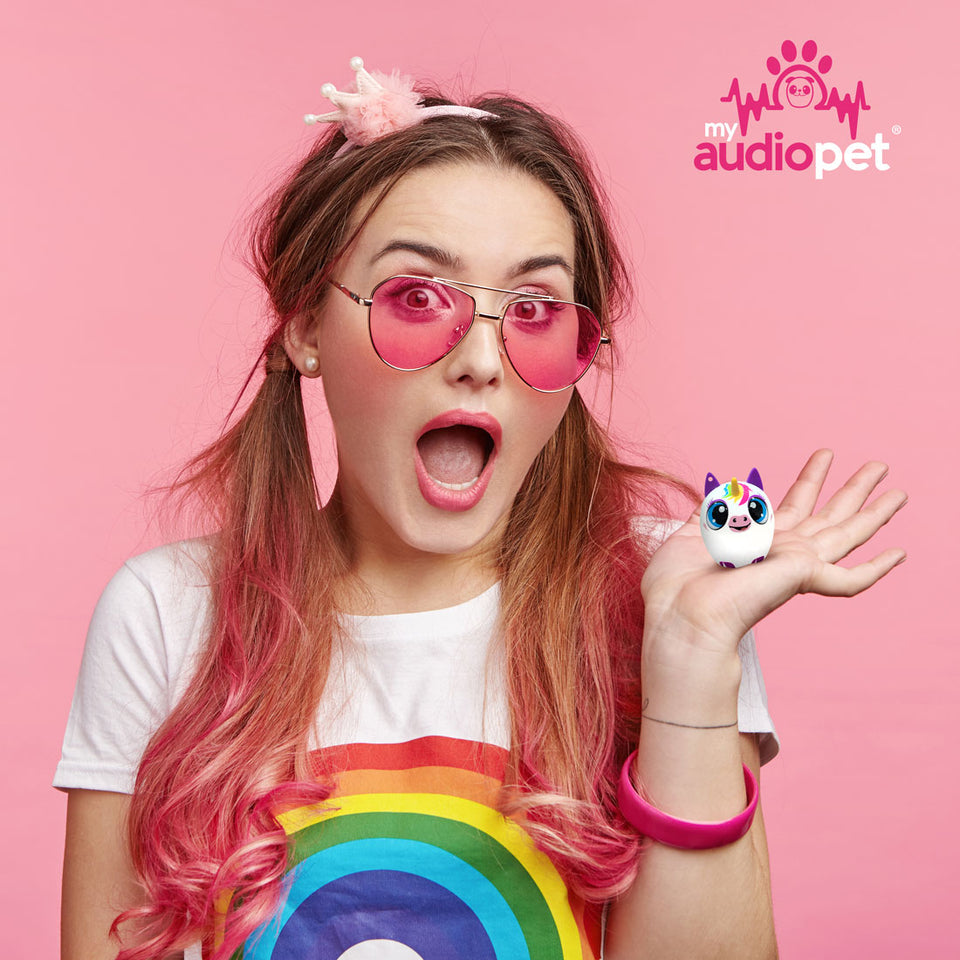 My Audio Pet UniChord Wireless Bluetooth Speaker with True Wireless Stereo Magical Unicorn that gets the rainbow crowd excited!