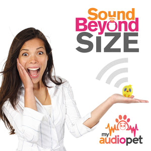 My Audio Pet Chick-a-dee-doo-dah Wireless Bluetooth Speaker with True Wireless Stereo Sound Beyond Size So Small So Powerful