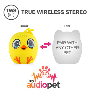 My Audio Pet Chick-a-dee-doo-dah Wireless Bluetooth Speaker with True Wireless Stereo Pair with any other MyAudioPet