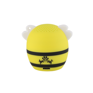 My Audio Pet BumbleBeat Wireless Bluetooth Speaker with True Wireless Stereo Bee back side logo brand