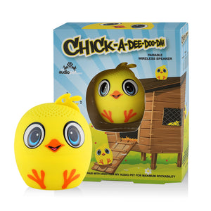 My Audio Pet Chick-a-dee-doo-dah Wireless Bluetooth Speaker with True Wireless Stereo Chick with chicken coop and farm box