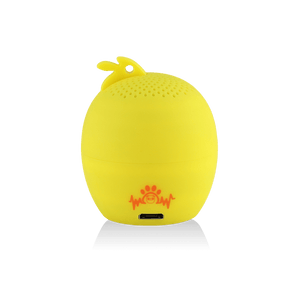 My Audio Pet Chick-a-dee-doo-dah Wireless Bluetooth Speaker with True Wireless Stereo Chick showing the brand logo on the back