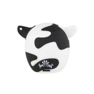 My Audio Pet Moozart Wireless Bluetooth Speaker with True Wireless Stereo Holstein Cow showing the authentic brand stamp on the rear