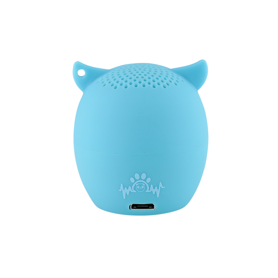 My Audio Pet OWLcapella Wireless Bluetooth Speaker with True Wireless Stereo Blue Owl showing the authentic brand mark on the rear