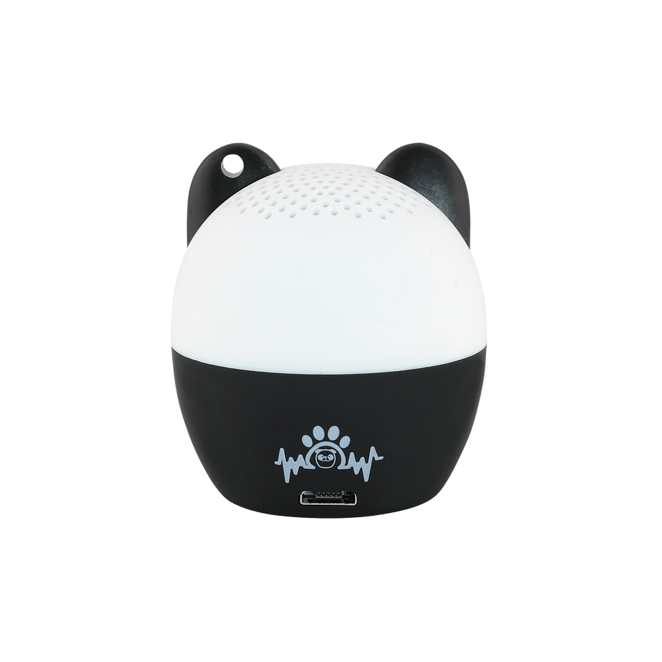 My Audio Pet PANDAmonium Wireless Bluetooth Speaker with True Wireless Stereo Panda showing the authentic brand mark on the rear