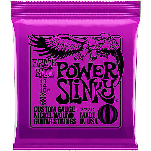 Ernie Ball 2220 Power Slinky Nickel Wound Electric Guitar Strings (11-48)