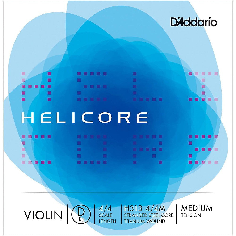 D'Addario Helicore H313 Medium Ball End Violin D String