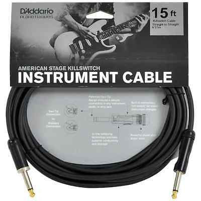 D'Addario Planet Waves PW-AMSK-15 American Stage Killswitch Instrument Cable 15ft/4.5M