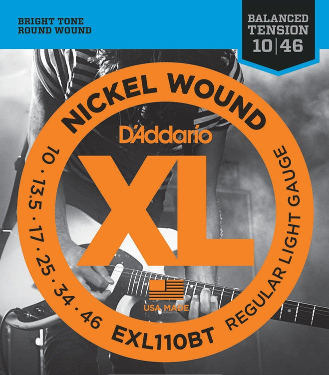 D'Addario EXL110BT Regular Light Nickel Wound Electric Guitar Strings (10-46)