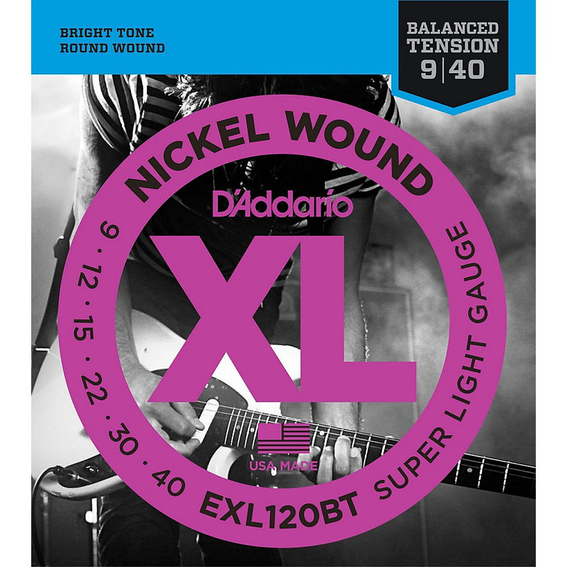 D'Addario EXL120BT Super Light Nickel Wound Electric Guitar Strings (9-40)