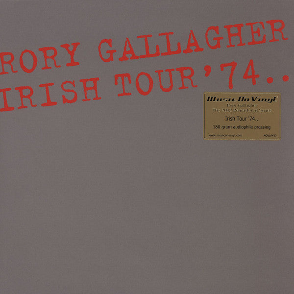 Rory Gallagher - Irish Tour '74 2LP
