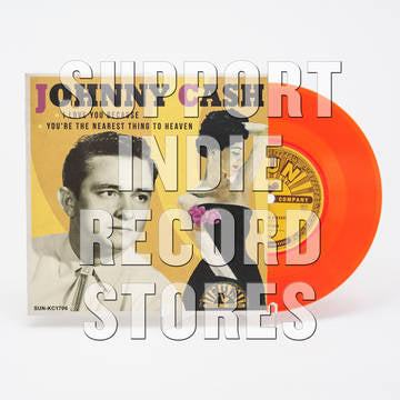 "Johnny Cash - I  Love You Because 7"" RSD 2018 Exclusive Orange Coloured Vinyl"