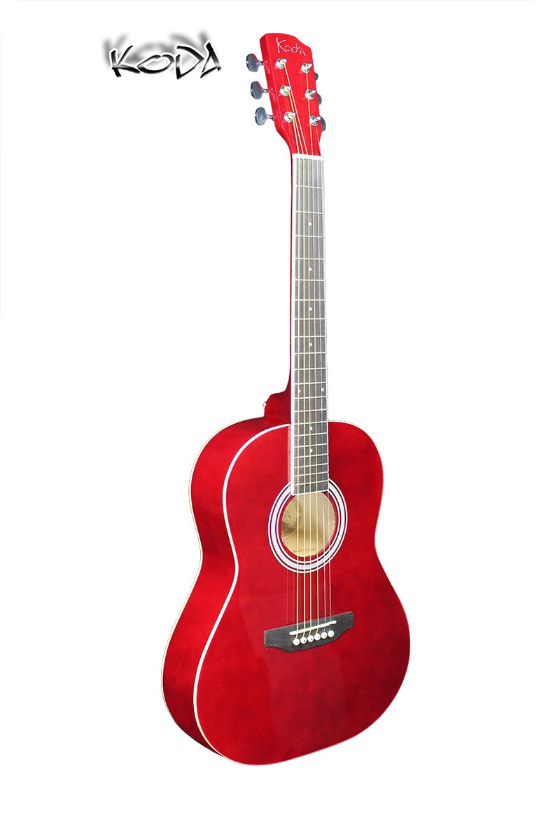 Koda 3/4 Acoustic Guitar HW36-201 Red PACK
