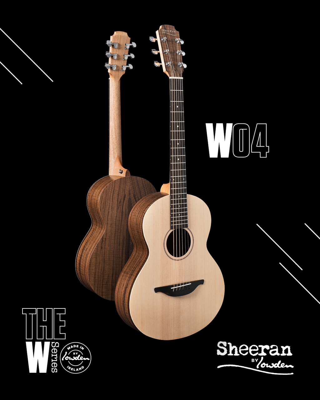 Sheeran by Lowden W-04 Sitka Spruce, Figured Walnut Back & Sides PRE-ORDER