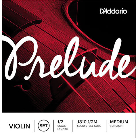 D'Addario Prelude J810 1/2M 1/2 Scale Medium Ball End Violin Strings Set