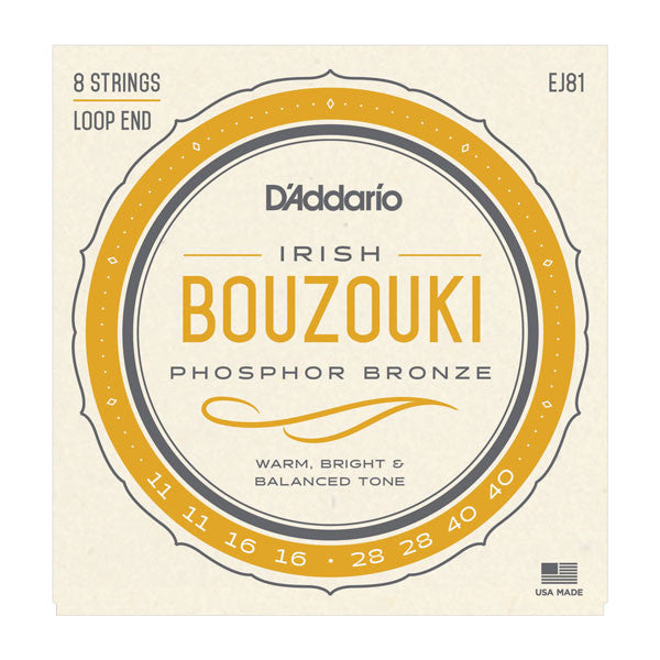 D'Addario EJ81 Irish Bouzouki Strings (11-40)