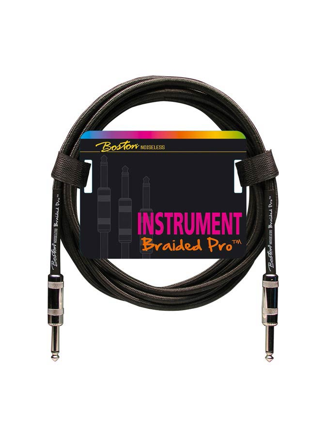 Boston Braided Pro instrument cable Black 3m