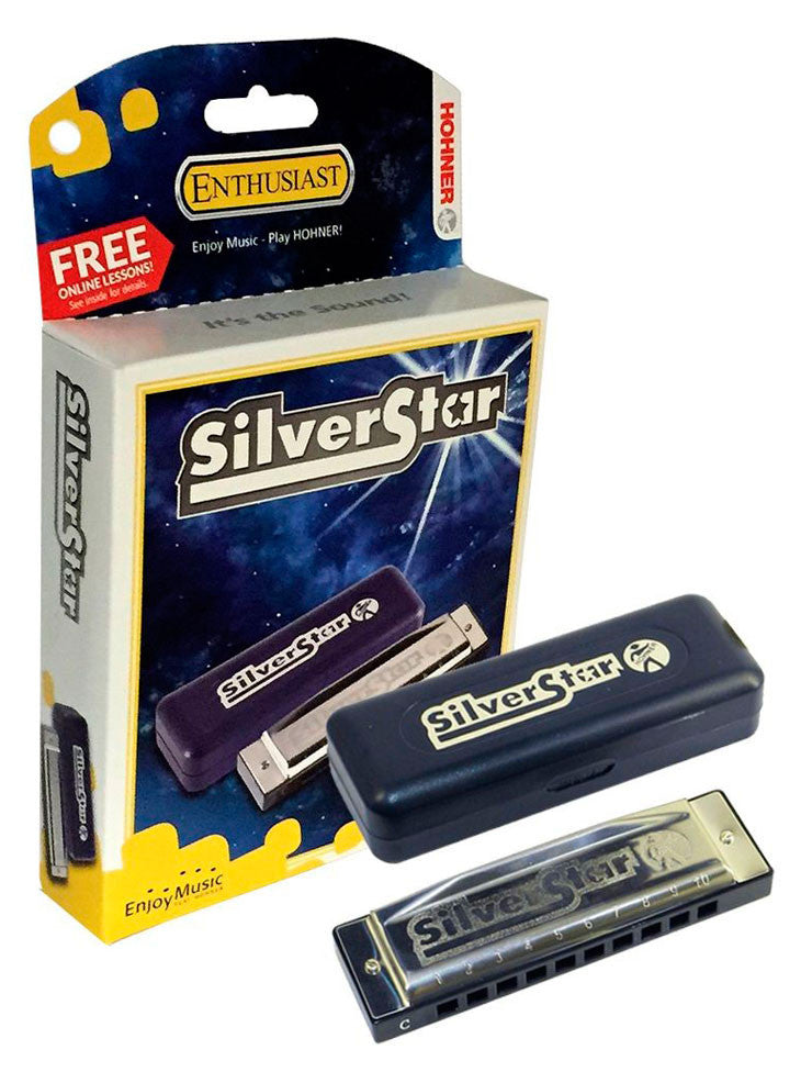 Hohner Silver Star Harmonica (Key D)