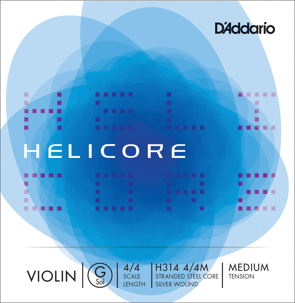 D'Addario Helicore H314 Medium Ball End Violin G String
