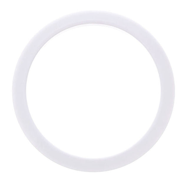 "Bass Drum O's 5"" White Round"