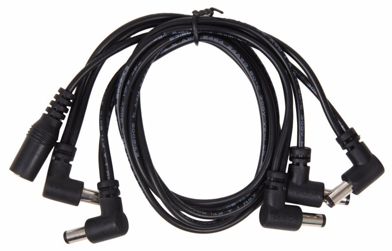 Mooer PDC-5A 5 Plug Multi DC Power Cable (Angled)