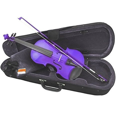 Rainbow Fantasia Violin Purple 4/4 Size Outfit