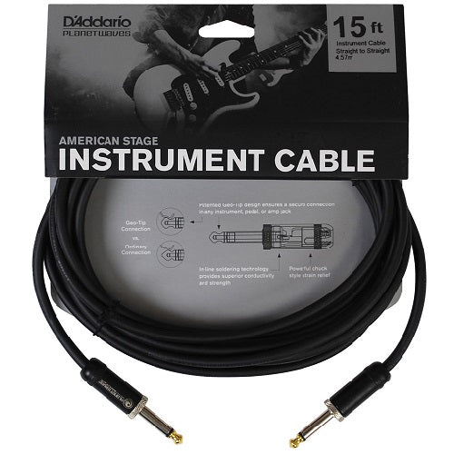 D'Addario Planet Waves PW-AMSG-15 American Stage Instrument Cable 15ft/4.5m