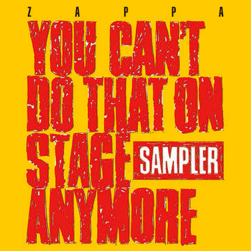 Frank Zappa - You Can't Do That On Stage Anymore Sampler 2LP LTD Transparent Yellow and Red Vinyl Record Store Day 2020