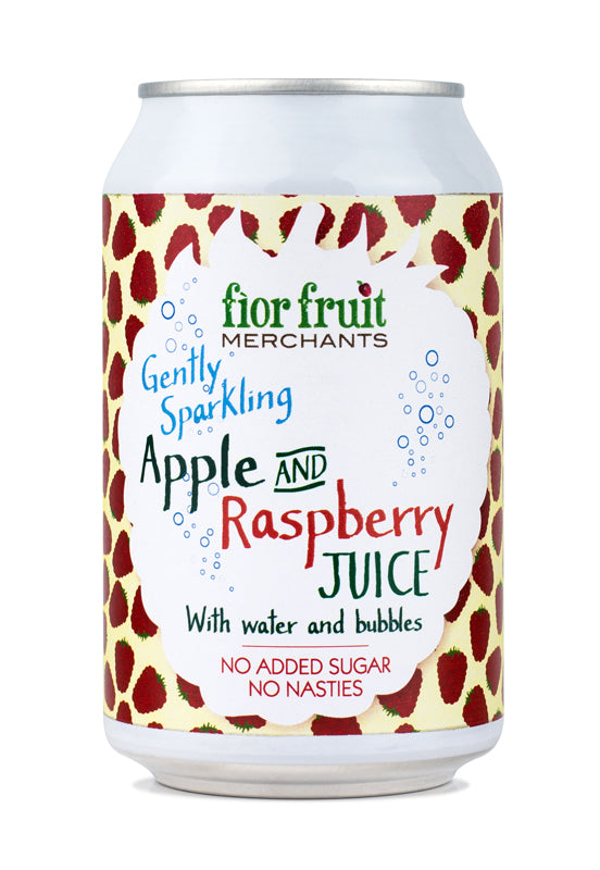 Fior Fruit Merchants Gently Sparkling Apple and Raspberry Juice 24 x 330ml
