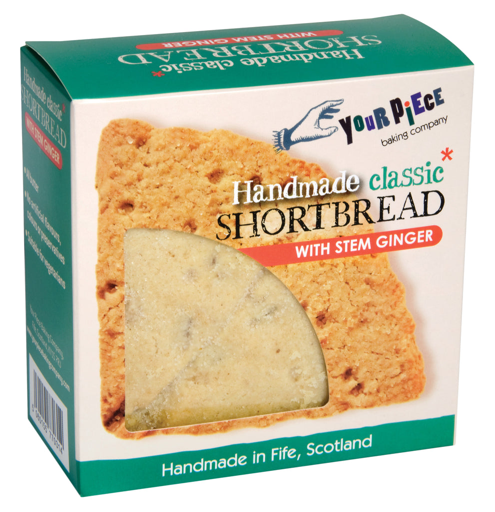 Your Piece Baking Company Classic Shortbread with Stem Ginger Fife Cut 180g