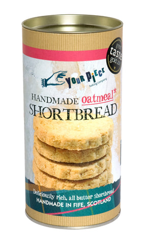 Oatmeal Shortbread Gift Tube 250g
