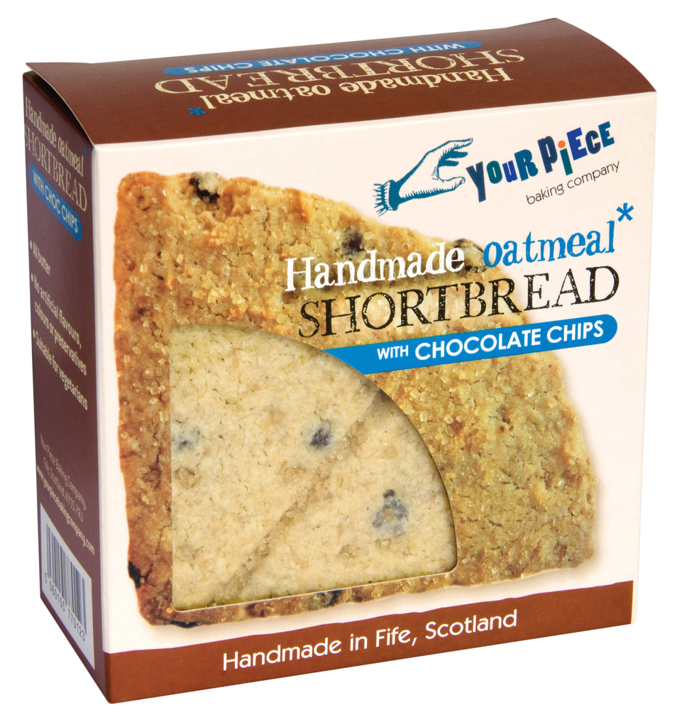 Oatmeal Shortbread with Begium Choc. Chip Fife Cut 180g