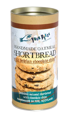 Your Piece Baking Company Oatmeal Shortbread with Belgian Chocolate Chips Gift Tube 250g
