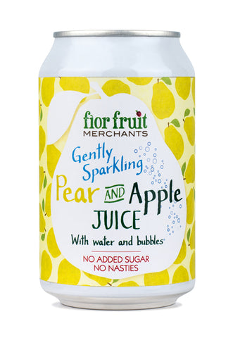 Fior Fruit Merchants Gently Sparkling Apple and Pear Juice 24 x 330ml