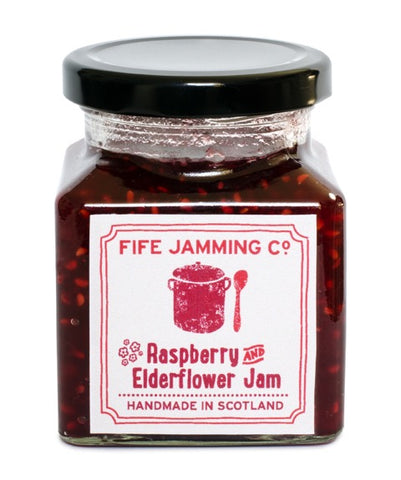 Fife Jamming Co Small Batch Raspberry and Elderflower Jam 275g