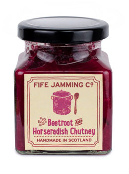 Fife Jamming Co Small Batch Beetroot and Horseradish Chutney 270g