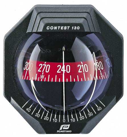 CONTEST 130 COMPASS - 17291 -  VERTICAL MOUNT - BLACK COMPASS WITH RED CARD-PLASTIMO