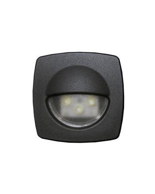 "2313 - LED COURTESY LIGHT  - BLACK 2 1/4""X 2 1/4"" X 1"""