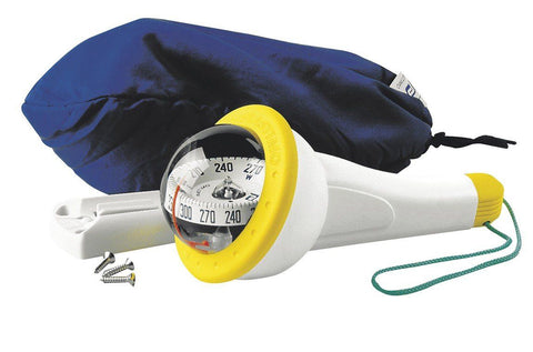 63877 - IRIS 100 UNIVERSAL COMPASS - YELLOW - WITH LIGHT - PLASTIMO