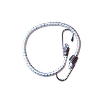 "393 - Elastic Cord with Stainless Steel Hook -  Diam. 5/16"" mm - Length 20"" - SET OF 2 PIECES"