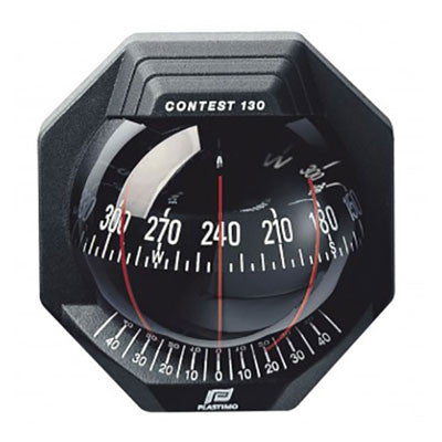 39669 - CONTEST 130 COMPASS - VERTICAL MOUNT - BLACK BEZEL WITH BLACK CARD - PLASTIMO