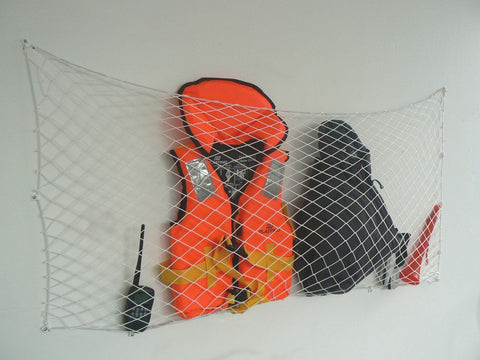 "Net Storage Plus Set  - 90cm x15 cm ~ 3' x 6"" Polyester Line - With Hooks And Screws"