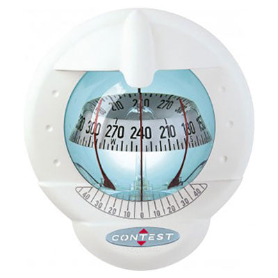 51003 - CONTEST 101 COMPASS - VERTICAL MOUNT- 64423 - WHITE COMPASS WITH WHITE CARD - PLASTIMO