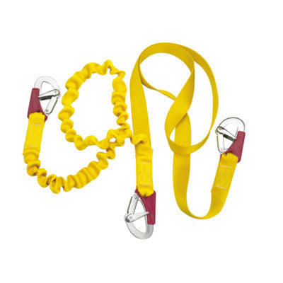 57305 - DOUBLE TETHER - ISAF < 2 METERS (6.5 FEET) + 1 METER (3.3 FEET) WITH 3 DOUBLE ACTION SAFETY HOOKS- PLASTIMO