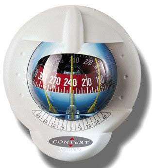 64417 - CONTEST 101 COMPASS-VERTICAL MOUNT-WHITE BEZEL - RED CARD- PLASTIMO