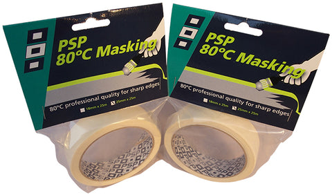 80ºC ~ 176 F Temperature Resistant Paper Masking Tape - PSP Tapes