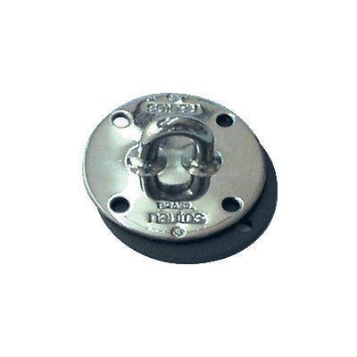 91058 Stainless steel pad eye with alloy underdeck plate. 6mm / 1/4""