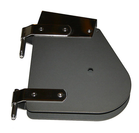 91113D - LASER RUDDER HEAD - DARK ANODIZED - LASER PART