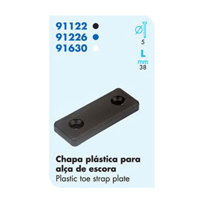 91122  Plastic Toe Strap Plate-4 Pieces Set