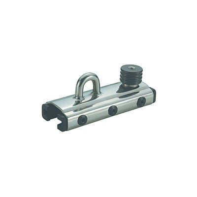 "91413-SLIDING  FOR 32MM ( 1 1/4"")  T TRACK - CAR WITH EYE AND STOP"